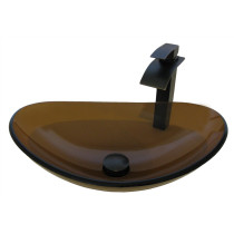 Novatto NSFC-324T136ORB BABBUCCIA Glass Vessel Sink Set - Oil Rubbed Bronze