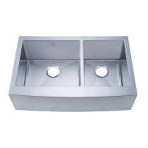 Stufurhome NW-3321D Apron/Farmhouse Stainless Steel 33 Inch Double Bowl Kitchen Sink