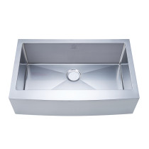 Stufurhome NW-3321S Apron/Farmhouse Stainless Steel 33 Inch Single Bowl Kitchen Sink