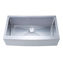 Stufurhome NW-3621S Apron/Farmhouse Stainless Steel 36 Inch Single Bowl Kitchen Sink