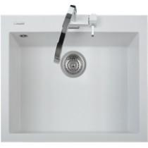 Latoscana ON6010 MicroUltra Granite Single Bowl Drop In Kitchen Sink - White