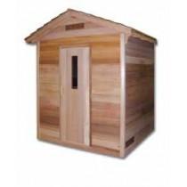 SaunaCore COD5X7 Classic Outdoor Sauna Room For Six