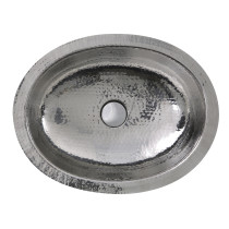 Nantucket Sinks OVS-OF Hand Hammered Stainless Undermount Sink w/ Overflow