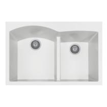 Houzer P-175 Quartztone Series Topmount Double Bowl Granite Kitchen Sink