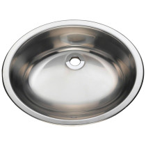 Circular Stainless Steel Bathroom Sink