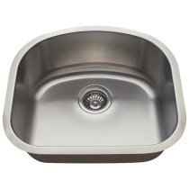 Single D-Bowl Stainless Steel Sink