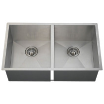 Double Equal 90 Degree Stainless Steel Sink