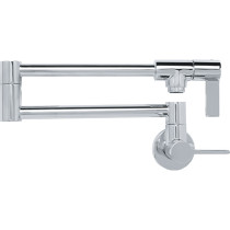 FRANKE PF3100 Ambient Wall Mounted Single Lever Handle Kitchen Faucet In Chrome
