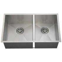 Large Left Offsett 90 Degree Stainless Steel Sink