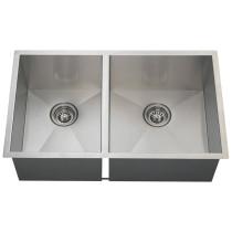 Large Right Offsett 90 Degree Stainless Steel Sink