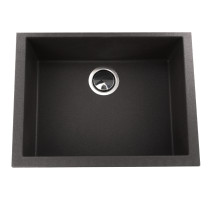 Nantucket Sinks PR2418-BL Small Single Bowl Undermount Granite Composite in Black