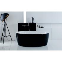 Aquatica PS174A-Blck-Wht-Rlx Free Standing Relax Air Massage Bathtub In Black