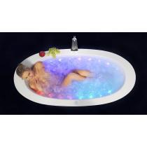 Aquatica PS174B-Blck-Wht-Rlx Free Standing Relax Air Massage Bathtub In Black