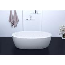 Aquatica PS174B-Wht-Rlx Purescape Free Standing Relax Air Massage Bathtub in White