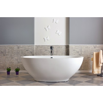 Aquatica PS503M-Wht-Rlx Karolina Relax Solid Surface Air Massage Bathtub in White