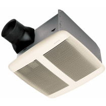 Broan QTRE080 Very Quiet Bath Fan In White Grille with ENERGY STAR®