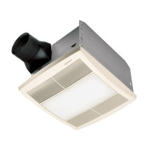 Broan QTRE080FLT Ceiling Mounted Exhaust Bath Fan ENERGY STAR® with Light