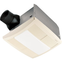 Broan QTRE110FLT Energy Star Rated - HVI Certified Fan With Light In White