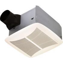 Broan QTRN110 4 Inch Duct Ultra Silent Bath Ventilation Fan White Grille