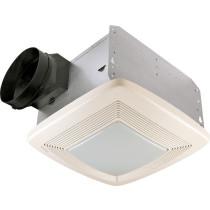 Broan QTXE110FLT White Ceiling Mounted Energy Star - HVI Certified Bath Fan