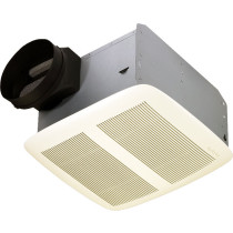 Broan QTXEN050 White Grille Energy Star Rated HVI Certified Ventilation Fan