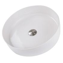 Nantucket Sinks RC7102WV Kiel Italian Fireclay Vanity Sink In White