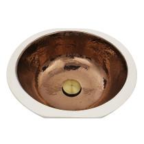 Nantucket Sinks RC78140HC Mumbai Italian Fireclay Bathroom Vanity Sink