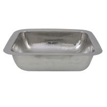 Nantucket Sinks RES 17.5 Inch Hammered Stainless Steel Rectangle Bar Sink