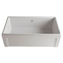 """Rohl RC3017WH 30"""" Shaws Original Casement Edge Front Single Bowl Fireclay Apron Kitchen Sink"""