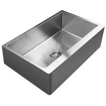 Ukinox RSFS840 Bottom Grid Single Stainless Steel Undermount Kitchen Sink