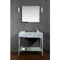Ariel SCBRI36PSS Stainless Steel 36 Inch Single Bath Vanity Set With Mirror