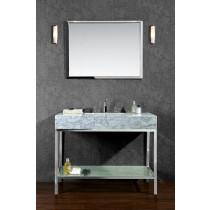 Ariel SCBRI48PSS 48 Inch Stainless Steel Single Bath Vanity Set With Mirror