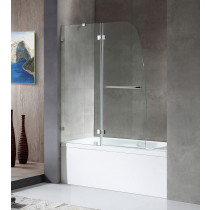ANZZI SD-AZ11-01CH Herald Frameless Hinged Tub Door In Polished Chrome