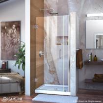 """DreamLine SHDR-20367210 Chrome Frameless 36-37"""" Adjustable Shower Door"""