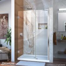 """DreamLine SHDR-20477210-01 Chrome Frameless 47-48"""" Adjustable Shower Door"""