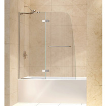 "Dreamline SHDR-3448580 Aqua Ultra 48"" Frameless Hinged Clear Glass Tub Door"