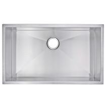 Water Creation SS-US-3219A Zero Radius 1 Bowl Undermount Sink For Kitchen