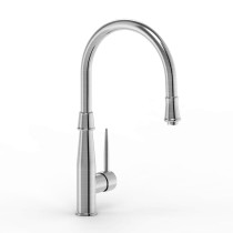 Parmir SSK-701 Single Handle Kitchen Faucet in Brushed Stainless Steel