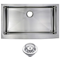 Water Creation SSS-AS-3622B Stainless Steel Handmade Farmhouse Kitchen Sink
