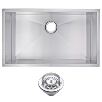 Water Creation SSS-US-3219A Undermount Kitchen Sink With Drain and Strainer