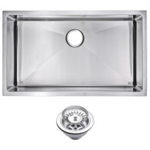 Water Creation SSS-US-3219B 1 Bowl Kitchen Sink With Drain and Strainer