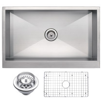Water Creation SSSG-U-3321A Single Bowl Stainless Steel Apron Front Sink