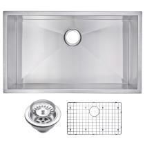 Water Creation SSSG-US-3219A Rectangular Zero Radius 1 Bowl Kitchen Sink