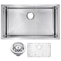 Water Creation SSSG-US-3219B Hand Made Single Bowl Undermount Kitchen Sink