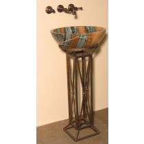 Quiescence ST-LVTH Wrought Iron Leviathan Designed Bathroom Sink Pedestal