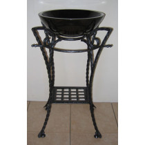 Quiescence ST-YUKN Wrought Iron Yukon Bathroom Pedestal with Shelf