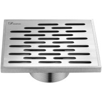 "Dawn® SYE050504 Yangtze River Series Square Shower Drain 5""L In Polished Satin"