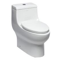 EAGO TB358 Dual Flush One Piece Elongated Ceramic Toilet