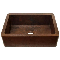Novatto TCK-001AN FARMHOUSE Copper Kitchen Sink with Antique Finish