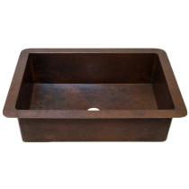 Novatto TCK-002AN GUADALAJARA Hand-Hammered Antique Copper Kitchen Sink